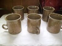 6 MUGS FROM CULLODEN POTTERIES,SCOTLAND,