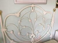 Decorative metal double bed headboard