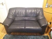 2 piece leather suite (3 seater + 2 Seater)
