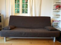 Sofa bed double brown