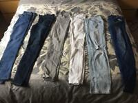 River Island and Superdry skinny jeans excellent condition, worn once 28 32 size 10