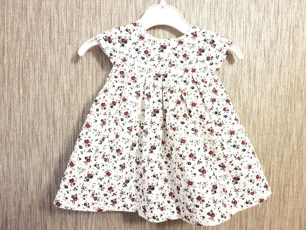 6fd8b94f9b5 MOTHERCARE 0-1 MONTH BABY GIRL FLORAL DRESS