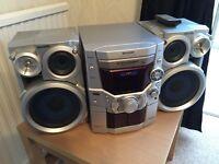 Retro Panasonic CD player hi-fi unit 5 disc changer