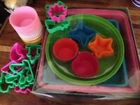 Silicone baking tins and cases