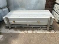 6FT X 6 INCH REINFORCED SMOOTH CONCRETE GRAVEL BOARDS/ BASE PANEL ~ NEW