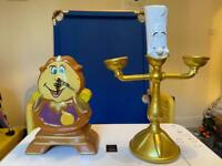 Disney Cogsworth Clock and Lumiere Tealight Holder Beauty and the Beast