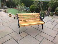 Beautiful cast iron bench