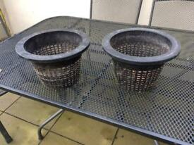 Plant pots for water plants( perforated all round)