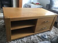 Good Quality, Solid Wooden Coffee Table with Two Storage Draws