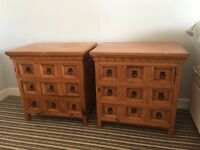 Classic bedside tables with drawers
