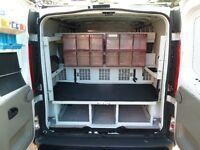 Racks and Work Bench for Van