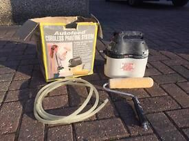 Cordless painting system autofeed