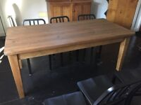 Solid High Quality Rustic Pine Dining Table Vintage Antique Farmhouse Wood