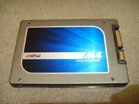 """Crucial M4 256GB SSD 2.5"""" SATA 6Gb/s CT256M4SSD2 Internal Solid State Drive fully tested and working"""