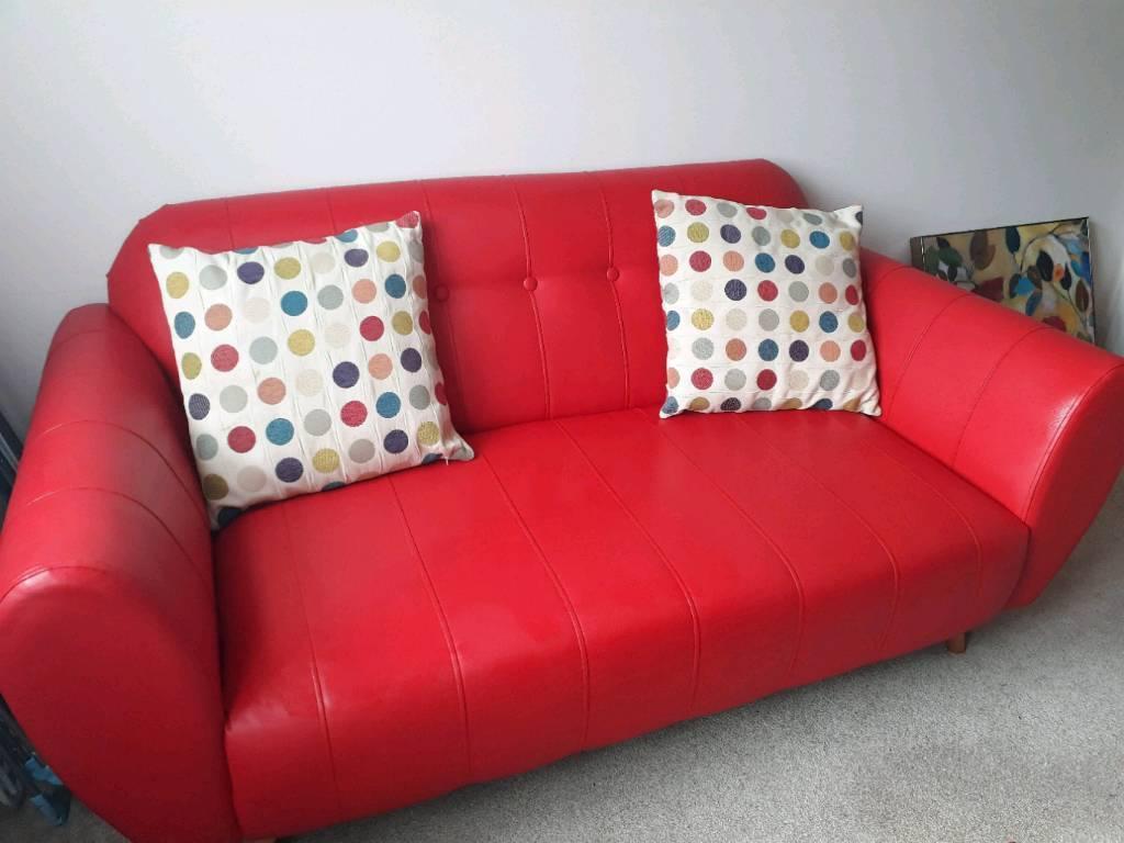 DFS Red 2 seater sofa | in Carrickfergus, County Antrim ...
