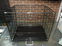 Dog crate / cage 2 foot long Black
