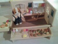 Sylvanian Families HAMBURGER WAGON BURGER VAN With Figure And Accessories