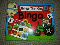 Things that go bingo game