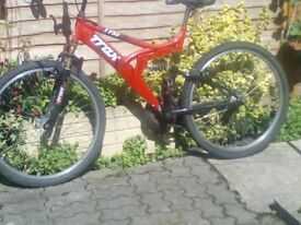 Full suspension Trax TFS/1 Mountain bike for spare or repair only £25 or best offer