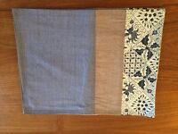 Set of 6 placemats made of Silk and Indonesian Batik - NEW - 2 different colours