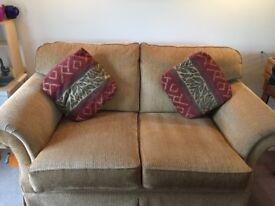 Hand built three seater and two seater sofa