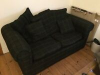 * FREE* Great condition navy/green check sofa bed