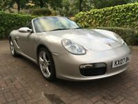 2007/07 Boxster 987 2.7 Arctic Silver Black Leather FSH Very Good Condition