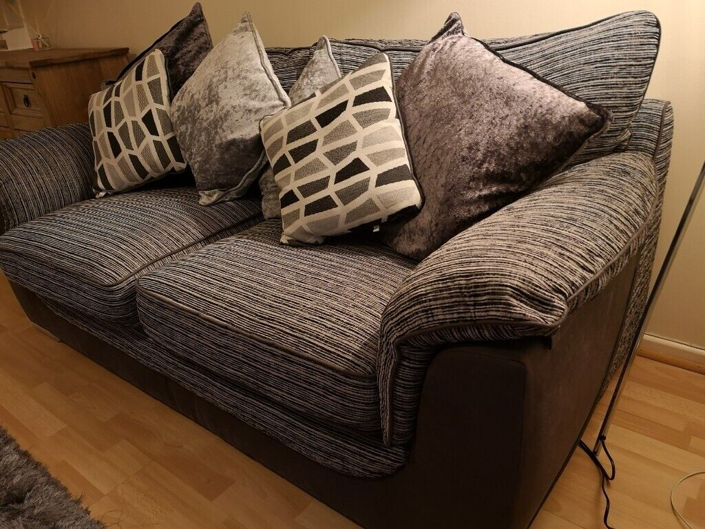 Enjoyable New Large Charcoal Sofa From Mfc Store Paid 500 For It With Original Receipt In Swansea Gumtree Home Interior And Landscaping Mentranervesignezvosmurscom