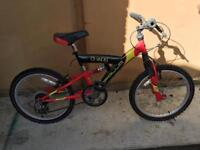 Boys bike 15 inch Apollo Chaos shock wave
