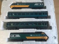 HORNBY 125 INTER CITY TRAIN 43010, DUMMY 43011, AND TWO CARRIAGES R439 OO GAUGE - Spares/Repairs