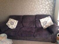3 & 2 seater comfy suede family sofa