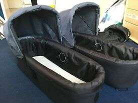 2 x Mountain Buggy Duet Carrycots
