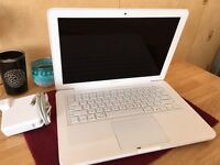 Apple MacBook White Unibody 13 inch 4GB RAM latest macOS Sierra + Windows 7