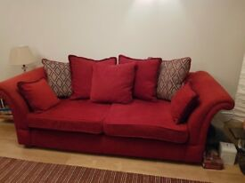 REDUCED - DFS 3 seater sofa and 2 seater plus footstool