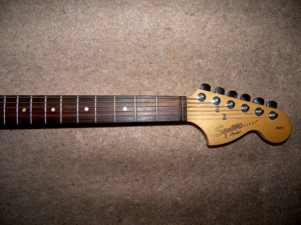 Fender Squier Stratocaster Affinity Fat Strat Electric Guitar HSS , Olympic  White / RRP £180 | in Bristol | Gumtree