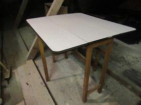 Vintage Original Formica White Gate Leg Drop Leaf table 50s 60s Retro