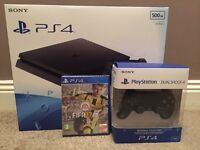 Ps4 slim 500gb, Fifa 17, duel shock v2 controller brand new