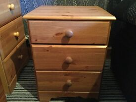 Bedside cabinets (2) made from pine wood