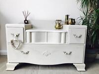 SOLD!! Vintage Art Deco chest of drawers/ dresser solid wood