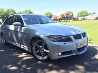 BMW 330D M SPORT AUTO 2006(56) SILVER XENONS HEATED LEATHER SUNROOF PARKING SENSORS 2 KEYS 1 P/OWNER