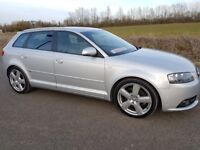 AUDI A3 2.0 TDI 170 S LINE 5 DOOR MANUAL ONE OWNER F/S/H CAMBELT @78K IN V/G CONDITION