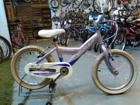 GIRLS CLAUD BUTLER FLAME BIKE 16 INCH WHEELS PURPLE ALLOY GOOD CONDITION