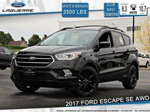 2017 Ford Escape SE**CUIR*AWD*BLUETOOTH*NAVI*CAMERA*A/C 2 ZONES*