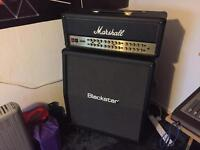Like new/Barry used Marshall JVM410H-JS and Blackstar S1-412A