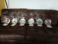 6x The Bradford Exchange limited edition Winnie the Pooh Collectible plates