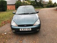 2003 FORD FOCUS TDCI DIESEL, NEW CAMBELT. 55 MPG. C/D PLAYER, LONG MOT TAXED ONLINE.