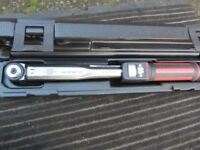 WURTH TORQUE WRENCH. 3/8th DRIVE. NEW. STILL IN ORIGINAL BOX AND PAPERWORK