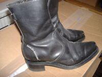 gen ladies harley davidson black leather boots size 6