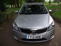 KIA CEED 1.6 CRDi 4 + FREE 3M WARRANTY + FINANCE AVAILABLE + CALL 01162149247 (silver) 2013
