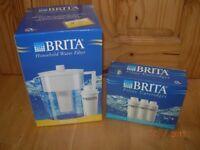 BRITA WATER FILTER JUG STYLE + 3 CARTRIDGES BNIB